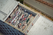 Al Jazeera feature on the Ponte Building and surrounding areas in Johannesburg CBD, South Africa. A rooftop can be seen with washing on top from poutside a window in Ponte. . Picture: Cornel van Heerden/Al Jazeera