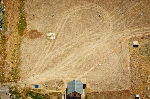 Al Jazeera feature on the Ponte Building and surrounding areas in Johannesburg CBD, South Africa. Patterns made by vehicles look like a heart, seen from a Ponte window. . Picture: Cornel van Heerden/Al Jazeera