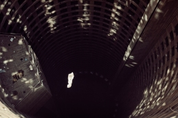 Al Jazeera feature on the Ponte Building and surrounding areas in Johannesburg CBD, South Africa. A newspaper falls inside the core of Ponte. . Picture: Cornel van Heerden/Al Jazeera