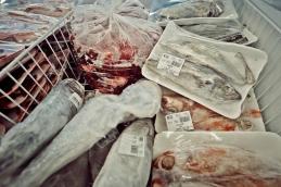 Al Jazeera feature on the Ponte Building and surrounding areas in Johannesburg CBD, South Africa. Fish can be seen inside a butchery/supermarket, inside Ponte. . Picture: Cornel van Heerden/Al Jazeera