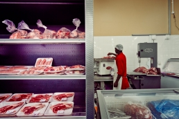 Al Jazeera feature on the Ponte Building and surrounding areas in Johannesburg CBD, South Africa. Meat can be seen inside a butchery/supermarket, inside Ponte. . Picture: Cornel van Heerden/Al Jazeera