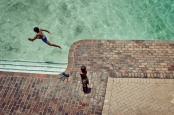 Al Jazeera feature on the Ponte Building and surrounding areas in Johannesburg CBD, South Africa. Kids play in the Ponte pool. . Picture: Cornel van Heerden/Al Jazeera