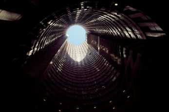Al Jazeera feature on the Ponte Building and surrounding areas in Johannesburg CBD, South Africa. The core of Ponte, looking up . Picture: Cornel van Heerden/Al Jazeera