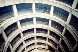 Al Jazeera feature on the Ponte Building and surrounding areas in Johannesburg CBD, South Africa. A Ponte resident walks with her laundry bucket after she hanged her laundry on the washing line. . Picture: Cornel van Heerden/Al Jazeera