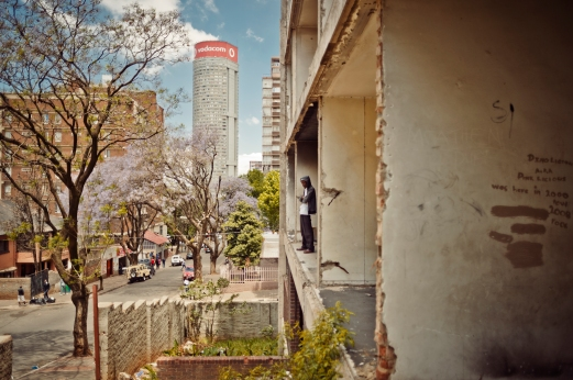 Al Jazeera feature on the Ponte Building and surrounding areas in Johannesburg CBD, South Africa. A rundown building can be seen close to Ponte. Although Ponte's management is trying to revive Ponte, surrounding areas can often be seen as slum. . Picture: Cornel van Heerden/Al Jazeera