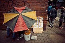 Al Jazeera feature on the Ponte Building and surrounding areas in Johannesburg CBD, South Africa. A hair salon/shop on the street. . Picture: Cornel van Heerden/Al Jazeera