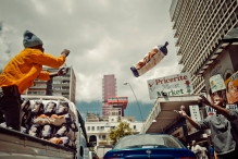 Al Jazeera feature on the Ponte Building and surrounding areas in Johannesburg CBD, South Africa. Potatoes being delivered to a local shop. . Picture: Cornel van Heerden/Al Jazeera