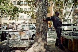 Al Jazeera feature on the Ponte Building and surrounding areas in Johannesburg CBD, South Africa. Live chickens being sold on the street. . Picture: Cornel van Heerden/Al Jazeera